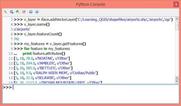 QGIS Python Console